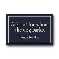 カスタム犬の吠え声ドアマット洗濯機玄関カスタムフロアマットゲートパッドカバー23.6 x 15.7インチ