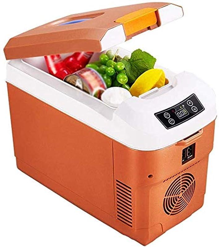 露出度の高いもう一度まっすぐにするLFSPミニ冷蔵庫 小型冷蔵庫、携帯用電気冷蔵庫、温度制御画面、加熱及び冷却、240 Vにミュート省エネ、12 V / 24 V (Color : Brown, Size : 15L)