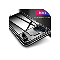 for iPhone 11 Pro MAX 6.5 6.1 5.8の高級ガラスケースfor iPhone XS MAX XR X 7 8 Plus Coqueのファッション超薄型保護カバー,for iPhone XR,Black