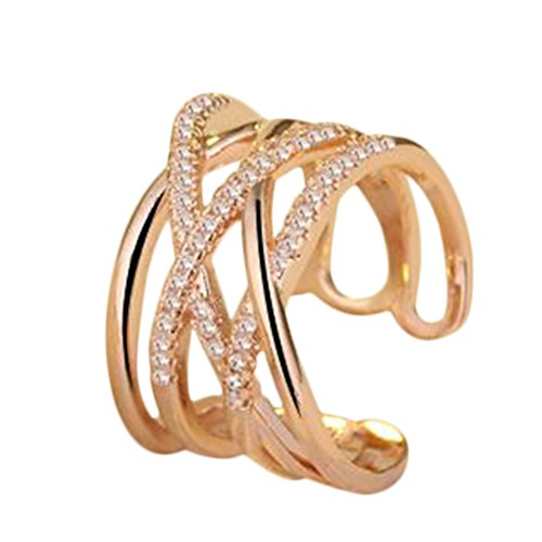 [해외]Doitsa 링 반지 프리 사이즈 조절 가능 이중 링 생일 기념일 결혼식 약혼 손 장식 선물 패션 간단한 여성/Doitsa ring ring Free size adjustable double ring birthday anniversary wedding engagement hand decoration gift fashion simple women`...