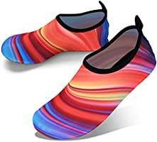 JOTO Water Shoes for Women Men Kids, Barefoot Quick-Dry Aqua Water Socks Slip-on Swim Beach Shoes for Snorkeling Surfing...