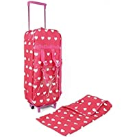 [New York Doll Collection] The New York Doll Collection Doll Travel Case Suitcase Storage Bag for 18 Inch Dolls with