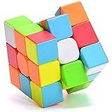 QiYi Magic Cube [2020最新] 魔方 3x3 競技用 立体パズル ポップ防止 知育玩具【6面完成攻略書付き】スタンド付き (ステッカーレス 1個)