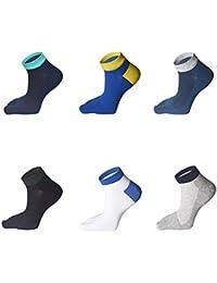 MINIVOG メンズ 5本指ソックス 通気 メッシュ 抗菌防臭 吸汗速乾 綿 ショートソックス くるぶし靴下