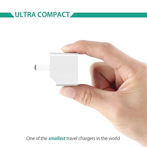 AUKEY USB充電器 ACアダプター 2ポート 超小型 折りたたみ式 軽量 コンパクト スマホ急速充電 AiPower機能搭載 iPhone 7 / iPhone 7 Plus / iPhone6s / 6s Plus / iPhone6 / 6 plus / iPhone5C / 5S / 5 / iPod / iPad / iPad Air / Xperia / GALAXY / ゲーム機等対応 (ホワイト)PA-U32