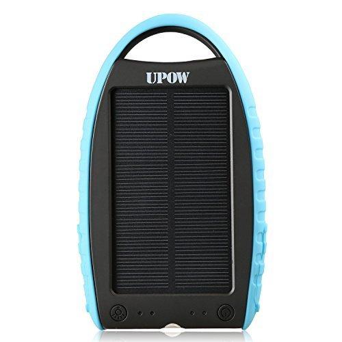 Upow 7000mAh 超大容量モバイルバッテリー ソーラーパネル