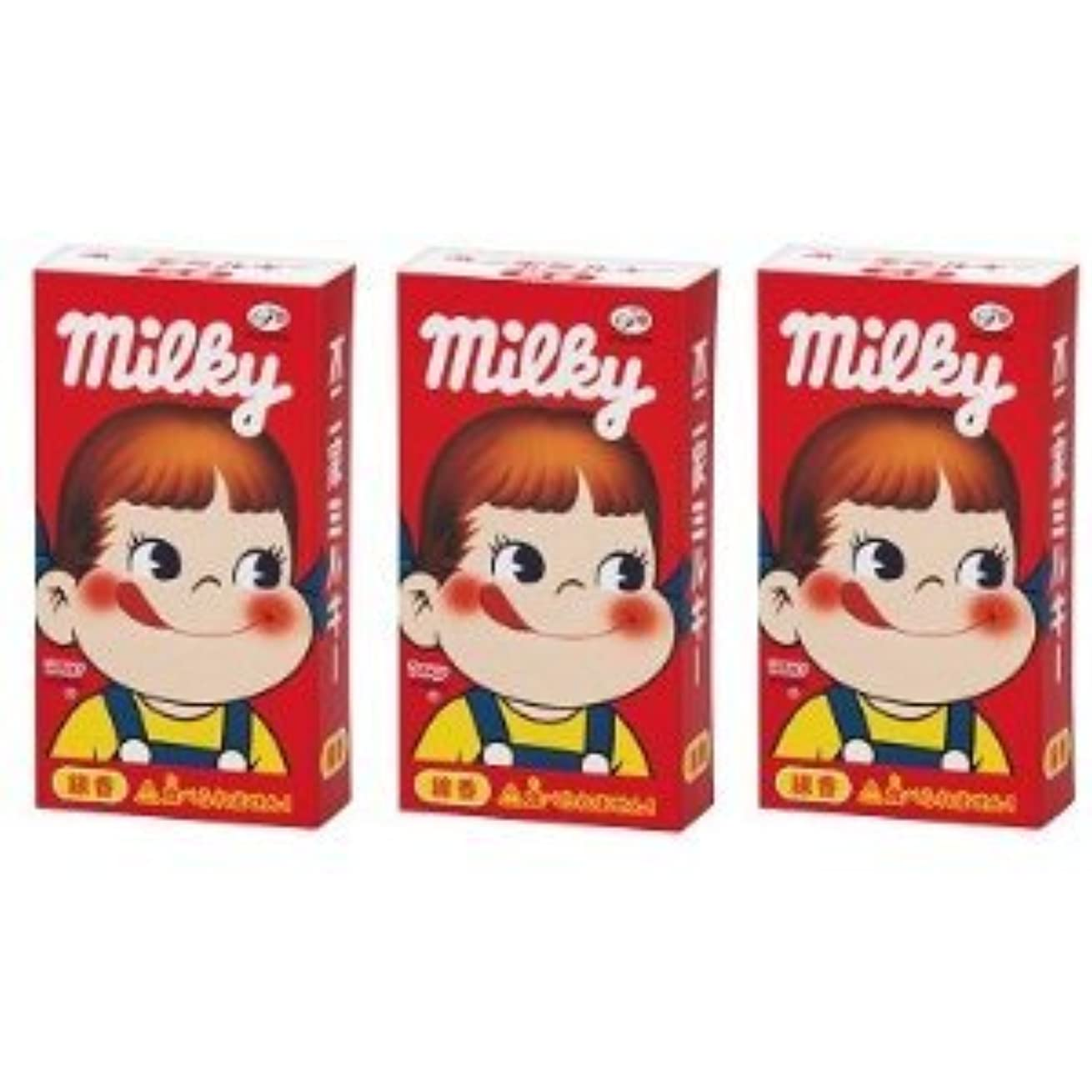 傾向がある入場プリーツ不二家 ミルキーの香りのミニ寸線香 3箱セット