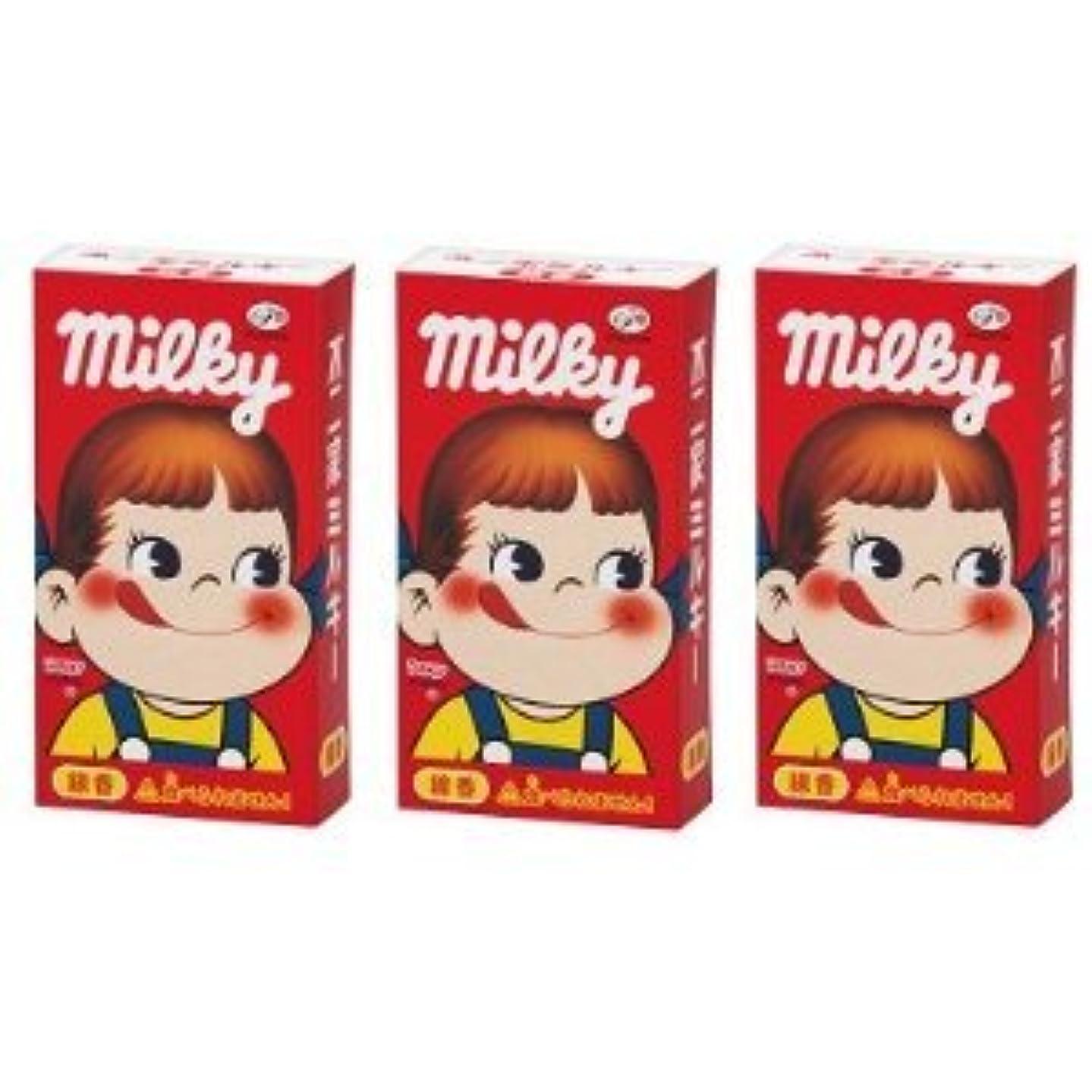 避難する気をつけて面不二家 ミルキーの香りのミニ寸線香 3箱セット