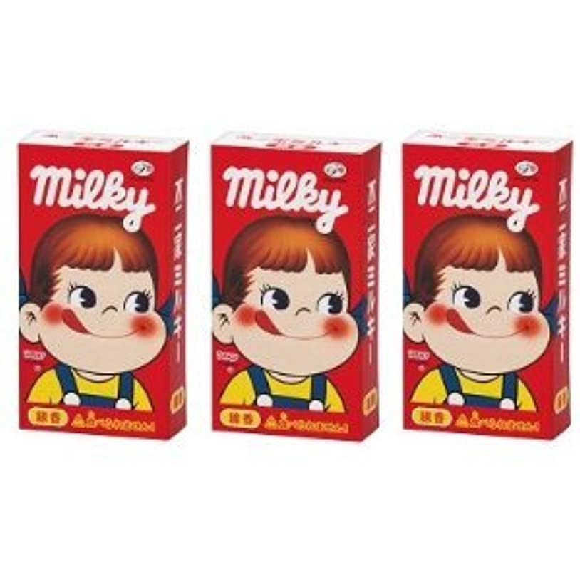 期限切れスマイル芸術不二家 ミルキーの香りのミニ寸線香 3箱セット