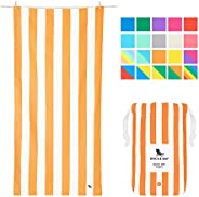 Sand Free, Quick Drying Beach Towel - Ipanema Orange, Large (160x80cm, 63x31) - Fast Drying Camping Towel for