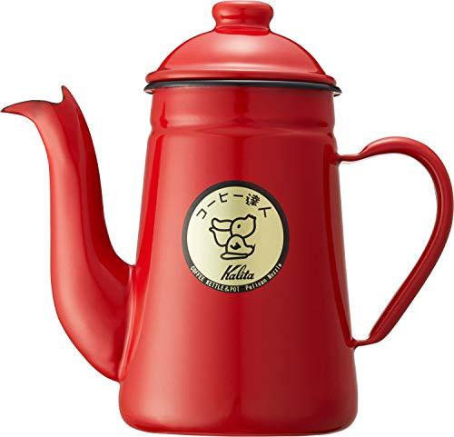 RoomClip商品情報 - カリタ コーヒーポット ホーロー製 コーヒ-達人 ペリカン 1L レッド #52123