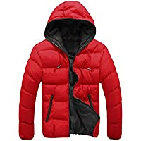 Men's Urban Warm Down Jacket Padded Hooded Jacket Puffa Jacket Coat