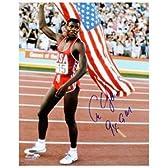 カール・ルイスはチームUSA 16x20の国旗写真9 Xを締結GM-トライスターホログラム - 直筆サイン入りスポーツ写真。
