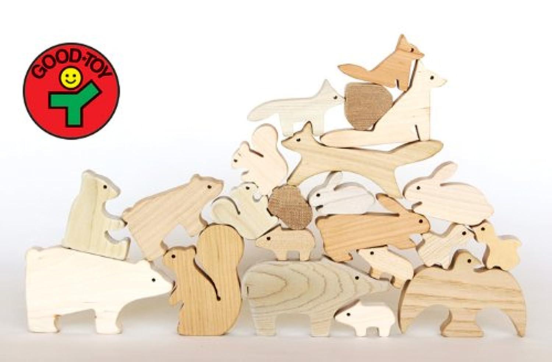森のどうぶつみき【国産材使用で無塗装、安心安全の木のおもちゃ】