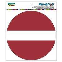 ラトビア国立国旗 - サークル MAG-格好いい'S(TM)カー/冷蔵庫マグネット