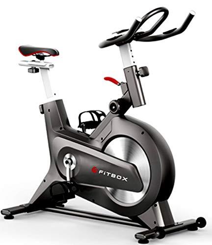 FiTBOX 第3世代フィットネスバイク スピンバイク ダイエット器具 メーカー1年保証 組み立て簡単 静穏 トレーニング トレーニングバイク ブラック