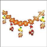 秋装飾 和風紅葉(もみじ)ガーランド 180cm 6670