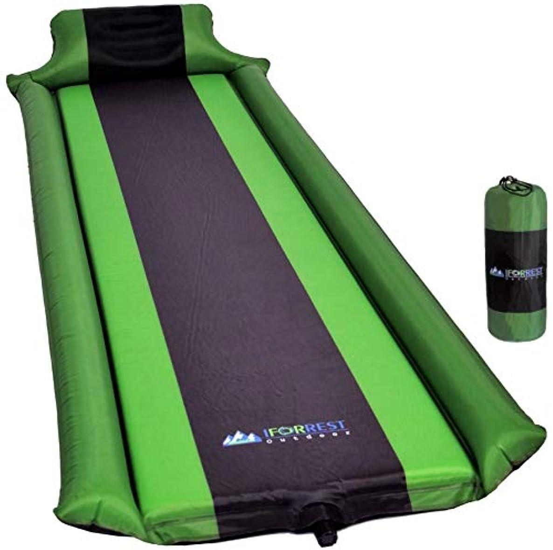 不名誉消えるカビIFORREST Sleeping Pad with Armrest and Pillow - Ultra Comfortable Self-Inflating Camping Pad - Ideal for Travel, Hiking, Backpacking, Cot and Hammock! (Green) 141[並行輸入]