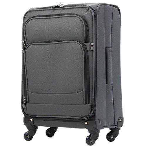 (機内持込サイズ)1〜3泊対応小型ソフトキャリースーツケース SサイズT0446 (グレー)