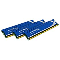 【Kingston(キングストン)】 永久保証 デスクトップ用増設メモリ(オーバークロックメモリ) 12GB (4GB×3枚組) DDR3-1600 (PC3-12800) CL9 DIMM(240pin) XMP対応 KHX1600C9D3K3/12GX