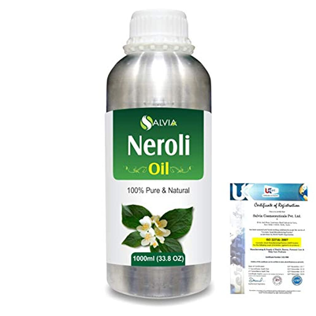蛇行書誌湿ったNeroli (Citrus Aurantium) 100% Natural Pure Essential Oil 1000ml/33.8fl.oz.