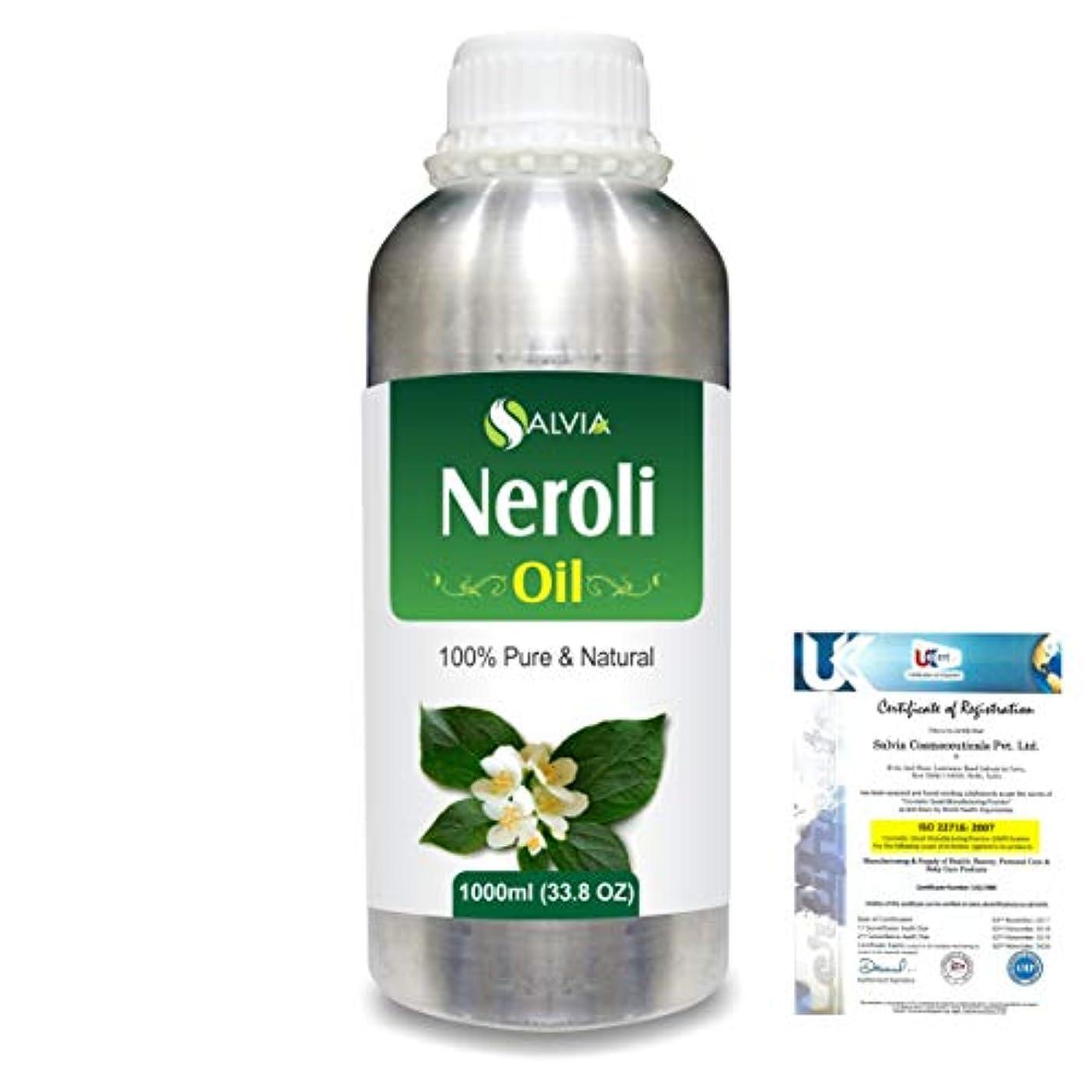 適応的演じる気楽なNeroli (Citrus Aurantium) 100% Natural Pure Essential Oil 1000ml/33.8fl.oz.