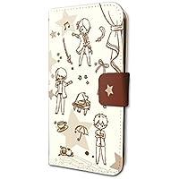 スタミュ 03 ちりばめ 前・華桜会(グラフアートデザイン) 手帳型スマホケース iPhone6/6S/7/8兼用