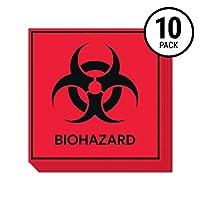 バイオハザードステッカーサイン(10パック)  ラボ、病院、産業用のデカール