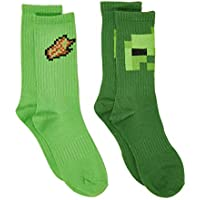 Minecraft Boys 2-Pack Character Crew Socks
