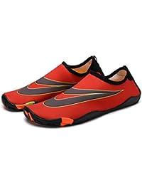 MEIDUO ウォーターシューズ スイミングシューズウェディングシューズユニセックスノンスリップソフトで快適なクイックドライシューズスノーケリングビーチシューズ親子靴 ビーチスイムヨガのための (色 : 赤, サイズ さいず...