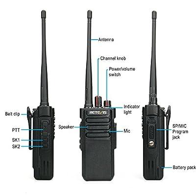 Retevis RT29 Two Way Radio VHF 136-174 10W 3200mAh Long Range 2 Meter Ham Amateur Radio (Black,1 Pack)