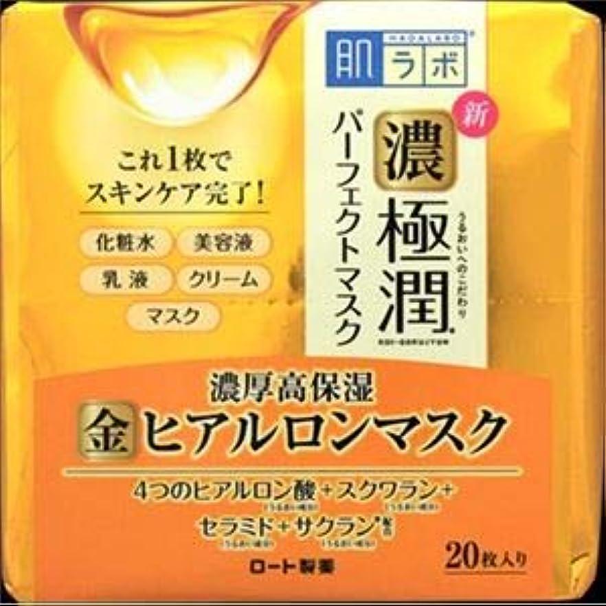 スピンショートスクリュー(まとめ)ロート製薬 肌ラボ 極潤パーフェクトマスク 20枚 【×3点セット】