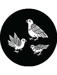 家紋シール 親子鳩紋 布タイプ 直径40mm 6枚セット NS4-1954