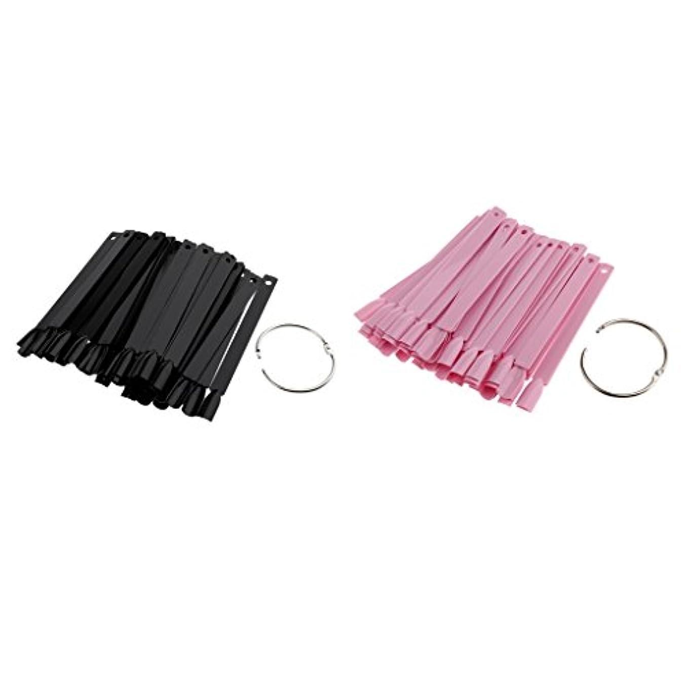 ラップトップカスタムその間Perfeclan 100個入 人工爪 ヒント ネイルアートチップ カラースティック カラープレート ネイル道具