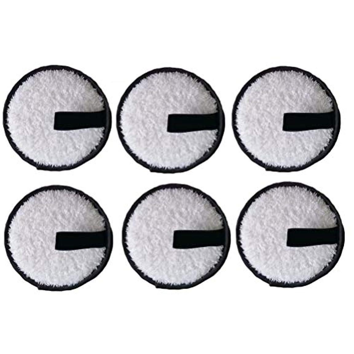 苦痛振り子物語LURROSE 6本洗顔パウダーパフ洗顔パウダーパフファッションメイク落とし圧縮パッド(黒)
