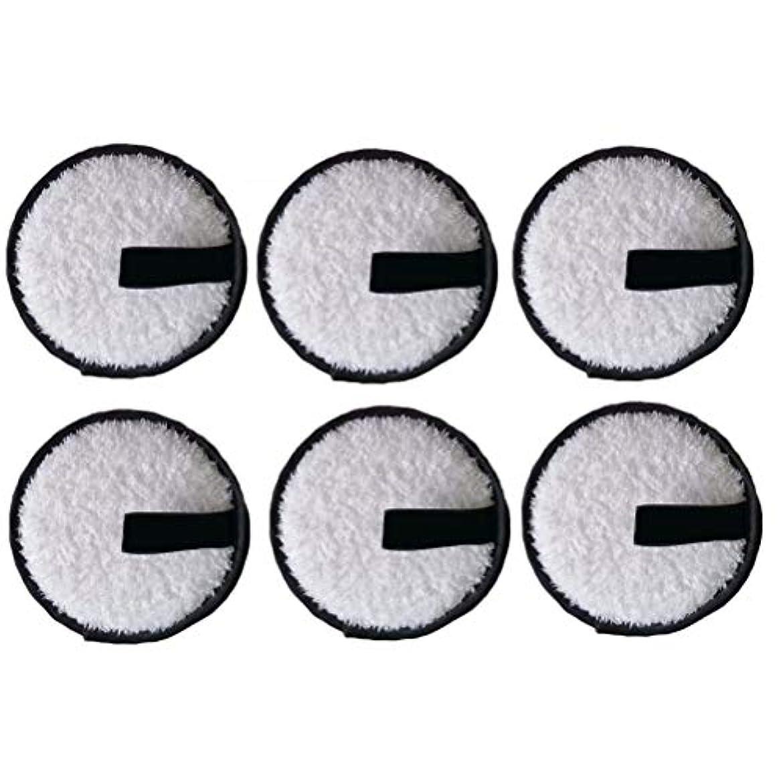 LURROSE 6本洗顔パウダーパフ洗顔パウダーパフファッションメイク落とし圧縮パッド(黒)