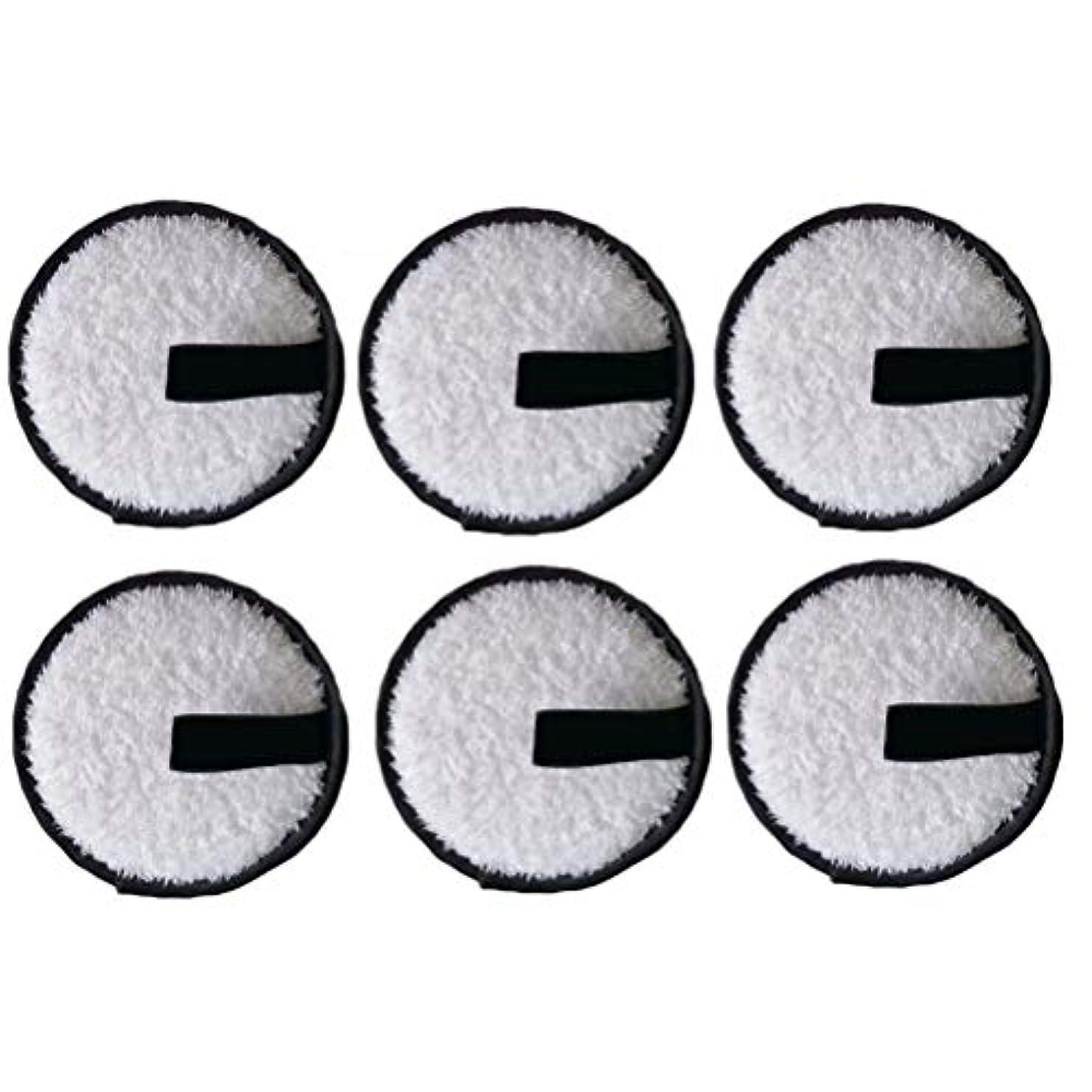 モットー叫ぶ敬LURROSE 6本洗顔パウダーパフ洗顔パウダーパフファッションメイク落とし圧縮パッド(黒)