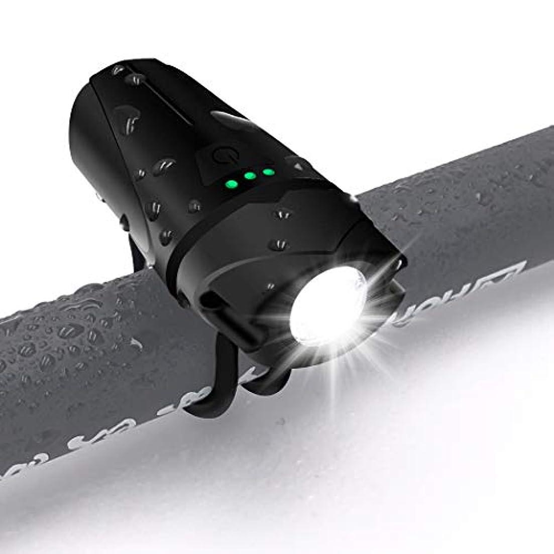 教義挨拶社交的自転車ライト USB充電式 【5W/800ルーメン+モードメモリ機能を搭載】IP65防水防塵 高輝度自転車ヘッドライト サイクリングライト 懐中電灯兼用 アウトドア 防災 LEDヘッドライト