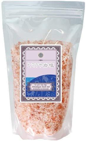 天然ヒマラヤ岩塩1kg ミネラルピンク バスソルト(入浴用)便利なスタンドパックに専用計量スプーン付