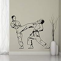Lcymt 空手キック柔道柔術エクストリームスポーツ&格闘壁用ステッカースポーツ壁用シール壁画50×42センチ