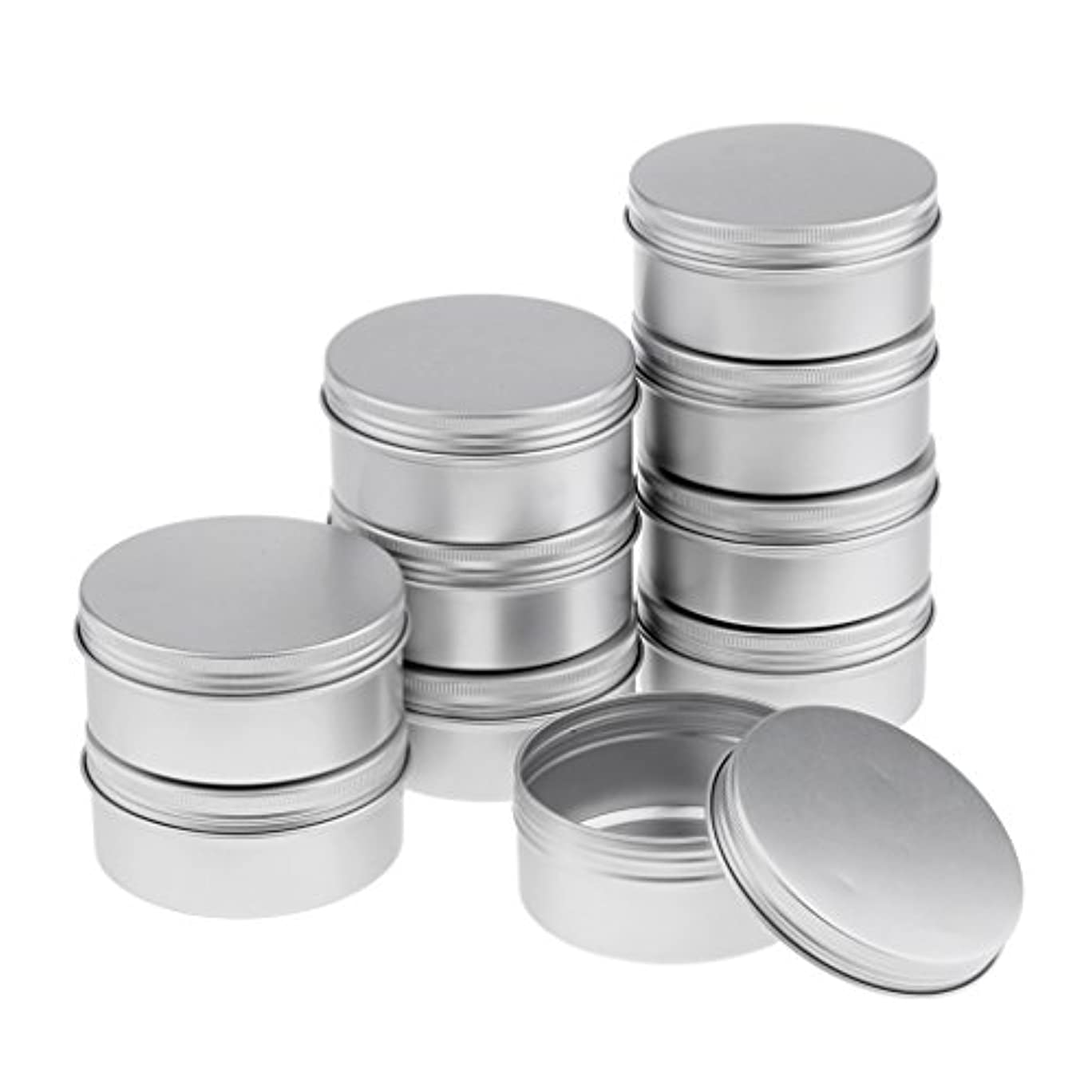 宝石要旨質素なクリーム 容器 150ミリリットル クリームジャー 空ジャー コスメ 詰替え 容器 4サイズ選べる - 150ml