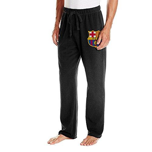 EMILYZスポーツ メンズ ファッション フトボル クルブ バルセロナ ロゴ スウェットパンツ 通気性 Black