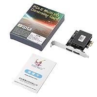 MolySun ポータブル ハードディスク IPQ&I/O PCI-E拡張カード用アダプタ活性化SSDソリッドステートハードドライブマルチI / OコントローラカードをESATA3.0する押収 黒い銀