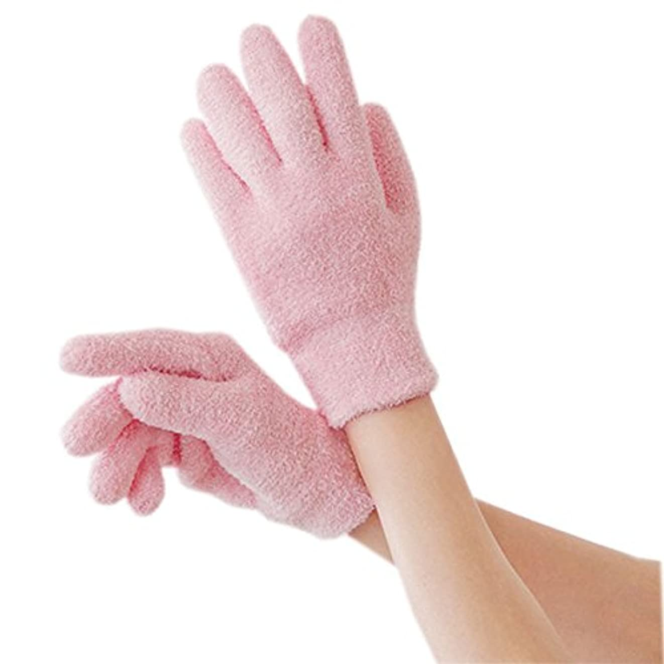ECHO TOUCH エコタッチ 保湿 手袋 靴下 ハンドケア フットケア 手 足 かかと 乾燥 角質 手荒れ 肌荒れ (ゲル?グローブ?ピンク)