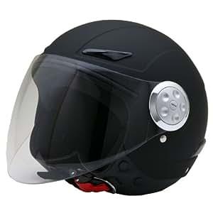 ネオライダース (NEO-RIDERS) SY-0 キッズ用 シールド付 ジェット ヘルメット マットブラック フリーサイズ 56cm未満 SG/PSC SY-0