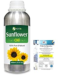 Sunflower (Helianthus annuus)100% Natural Pure Carrier Oil 1000ml/33.8fl.oz.