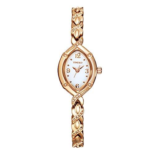Time100 ラインストーン チェーンブレスレット レディース腕時計 日本製ムーブメント#W50170L.02AN