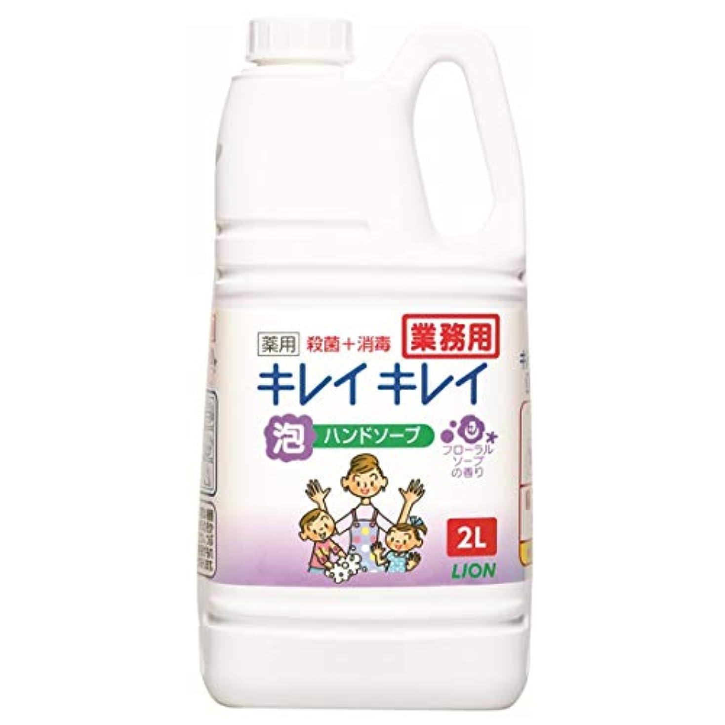 改善注入庭園【大容量】キレイキレイ 薬用泡ハンドソープ フローラルソープの香り 2L