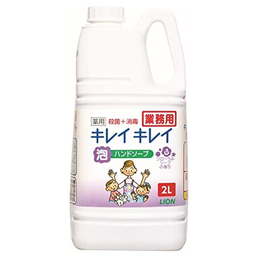 乙女物理的な比較【大容量】キレイキレイ 薬用泡ハンドソープ フローラルソープの香り 2L