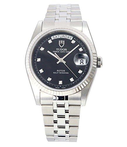 [チュードル]Tudor 腕時計 プリンス デイトデイ シルバーダイヤル 10Pダイヤモンド 自動巻き 76214BK10D メンズ 【並行輸入品】